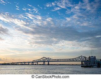 puente, a través de, río de mississippi