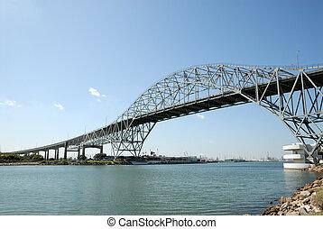 puente, christi, estados unidos de américa, puerto, cuerpo, tejas