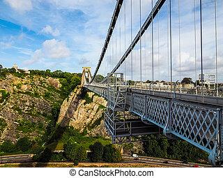 puente, clifton, hdr, bristol, suspensión