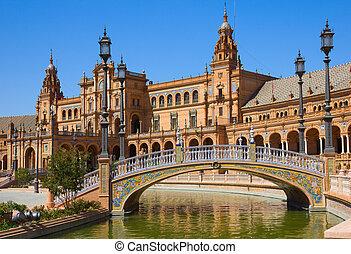 Puente de Plaza de España, Sevilla, España