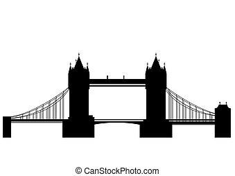 Puente de torre, vector