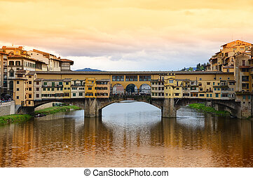 puente del vecchio, italia, florencia, ponte