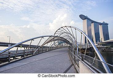 Puente Helix. Singapur