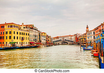 puente, italia, venecia, di, (ponte, rialto, rialto)
