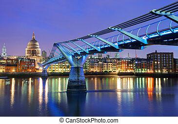 puente, reino unido, santo, milenio, catedral, paul, londres