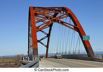 Puente Sauvie Island.