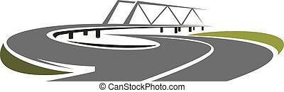 Puente sobre la autopista