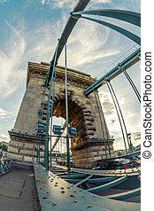 puente, tiro del ángulo, cadena, húngaro