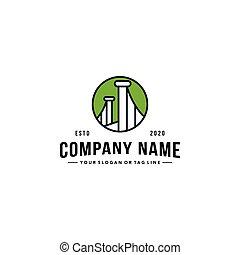 puente, vector, logotipo, diseño