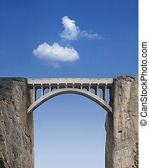 Puente y cielo
