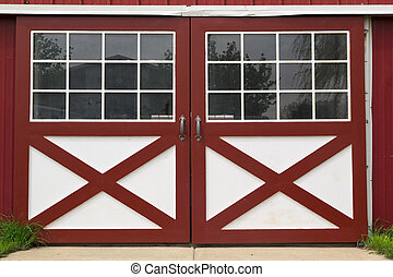 Puerta del granero rojo
