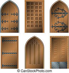 puerta, edades, medio