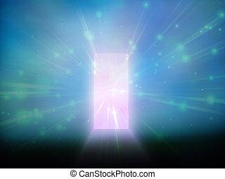 puerta, luz