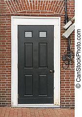 Puerta principal de una casa en Portsmouth NH