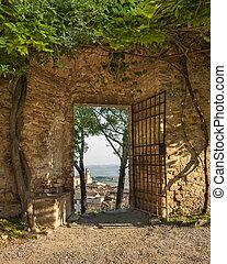 puerta, san gimignano