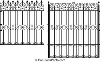 Puerta y valla
