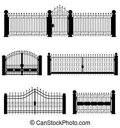Puerta y vector de cerca