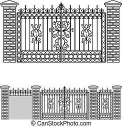 Puertas de hierro y vallas