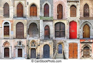 Puertas delanteras medievales