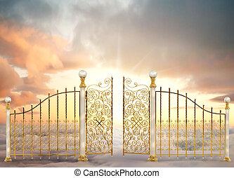puertas, perlado, paisaje