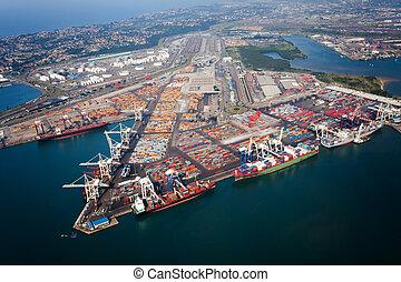 puerto, áfrica, durban, sur