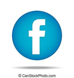 pulgar, f, botón para arriba, vector, facebook