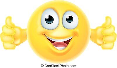 pulgares arriba, smiley, emoji