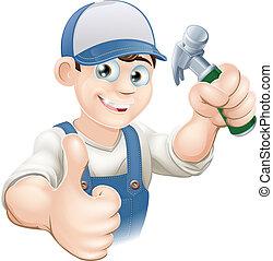 Pulgares de carpintero o constructor