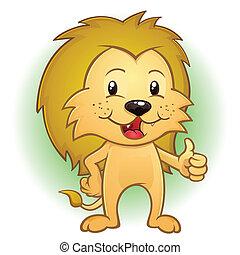 Pulgares de mascotas de león