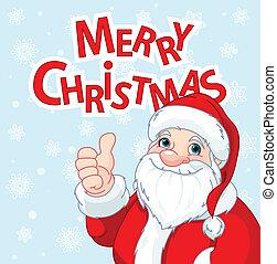 Pulgares para Santa Claus