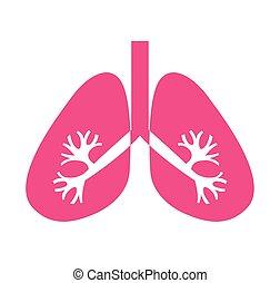 Pulmones órgano humano icono aislado