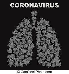 pulmones, bacteria, coronavirus, plano de fondo