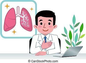 pulmones, doctor, explicar
