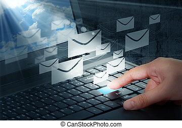 Pulsa el botón y correo electrónico