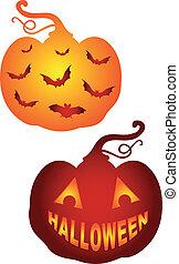 Pumkins de Halloween, vector