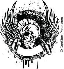 Punk con una señal de alas