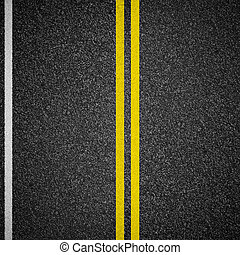 punta la vista, camino de asfalto, carretera