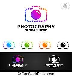 punto, resumen, logotipo, cámara, fotografía