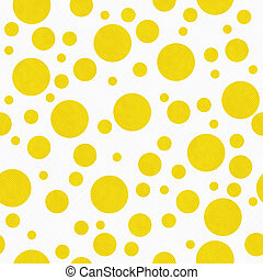 Puntos amarillos brillantes sobre tejidos de tela blanca textura