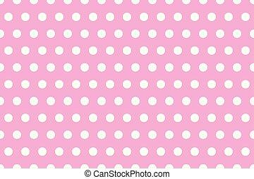 Puntos blancos de lunares rosados