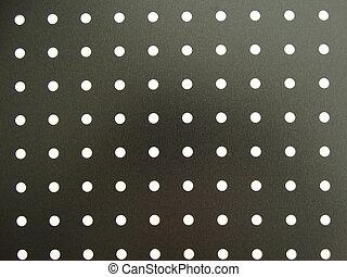 Puntos blancos en el fondo negro