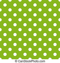 Puntos blancos en verde lima