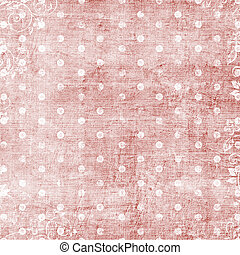 Puntos blancos sobre fondo rosa