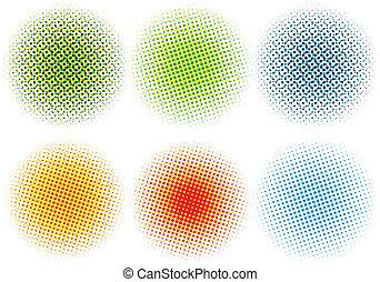Puntos coloridos, vector