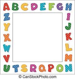 Puntos de alfabeto enmarcados