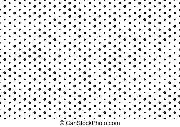 Puntos de fondo blanco negro sin costura