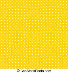 Puntos de polca inservibles, amarillo brillante