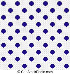 Puntos de polka azul claro sobre el fondo de tela textura blanca