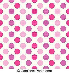Puntos de polka rosa sobre fondo blanco