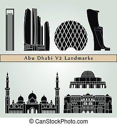 Puntos de referencia de Abu dhabi V2